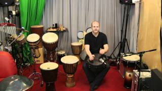 Beginner hand drum lesson with a Remo djembe